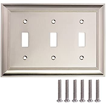 triple toggle wall plate satin nickel 1pack