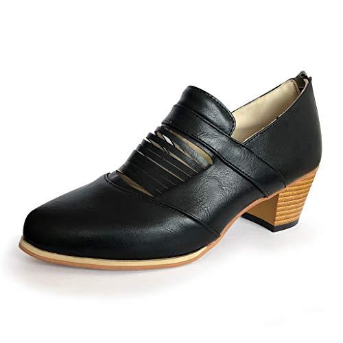 pointes noir Toe , Talons pour à talons dans Open hauts Chaussures dos femmes avec vintage femmes hauts le Zyueer pour ZfHqgw
