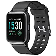 "#LightningDeal Letsfit Fitness Tracker HR, Activity Tracker with 1.3"" Color Screen, 5ATM Waterproof Smart Watch with Heart Rate Monitor Sleep Monitor Step Calorie Counter, Pedometer Watch for Kids, Women and Men"