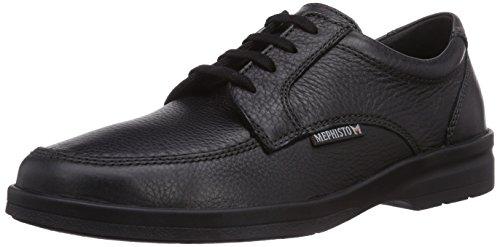 Homme Lacet black Noir 7200 Graine Cuir 42 Chaussure Fr Janeiro Mephisto gan0qx