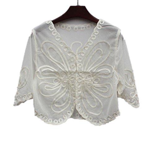 Santwo Bolero, Cardigan de punto para mujer, tallas más pequeñas Style A