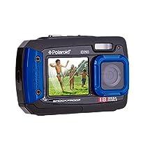 Polaroid IE090-BLU Waterproof Digital Camera with 2.7-Inch LCD, Blue