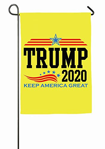 Trump 2020 Keep America Great Flag Polyester Garden Flag House Banner 12 x 18 inch, Welcome Yard Decoration Flag for Wedding Party Home Decor]()