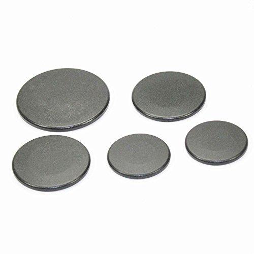 Frigidaire 903163-9010 Range Surface Burner Cap Set (Black) Genuine Original Equipment Manufacturer (OEM) Part for Frigidaire, Kenmore, Kenmore Elite, U.S. Pressed Steel, Black (Burner Black Range Cap)