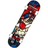 Punisher Jester Complete Skateboard, Blue, 31-Inch