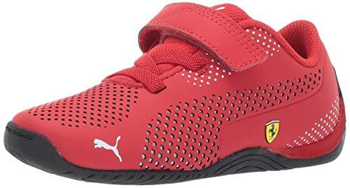 (PUMA Unisex Ferrari Drift Cat 5 Ultra Sneaker Rosso Corsa White, 6.5 M US Big Kid)