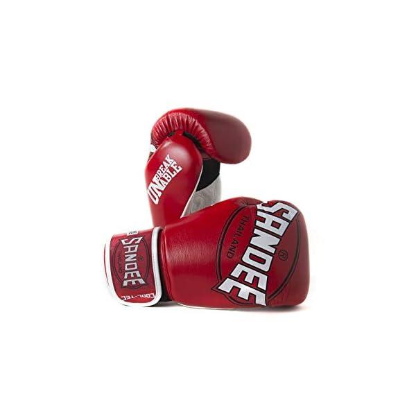 Sandee-Cool-Tec-Boxing-Gloves-Red-White-Black-Muay-Thai-Kickboxing-Training