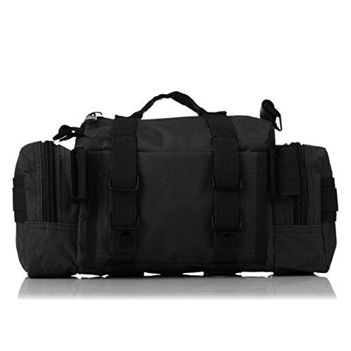 Tactical Waist Bag By DOUN Military Style Versatile Tactical Backpacks Hand Carry Rucksacks Camera Bags - Black