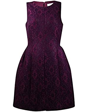 Women's Sleeveless Fit-And-Flare Dress