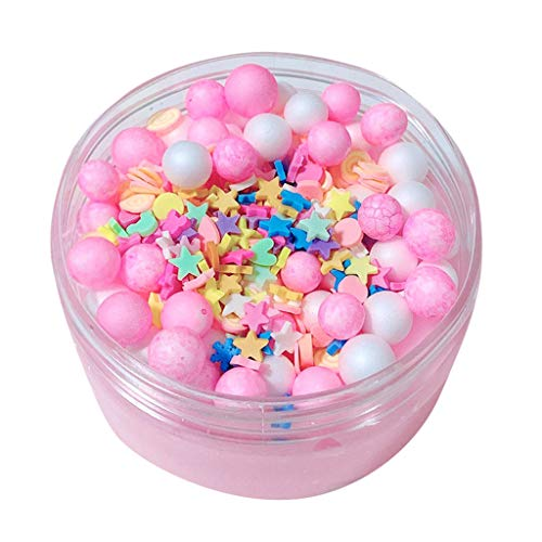 Cute Slime Kids Relief Stress Toys Gift Foam Beads Crunch Cotton Candy -
