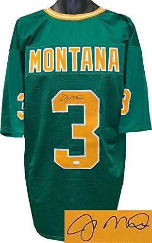 6131673077a Signed Joe Montana Jersey - Green TB Custom Stitched College Football XL  Witnessed Hologram - JSA