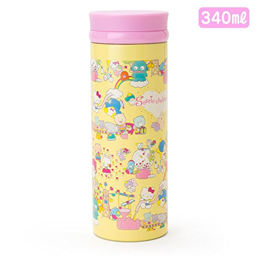 Sanrio Sanrio Characters stainless steel mug bottle M wrapping paper 340ml From Japan New by Sanrio