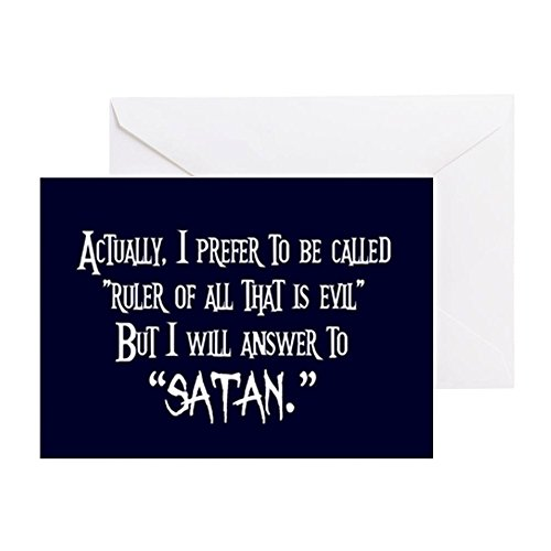 - CafePress - Evil Satan - Greeting Card, Note Card, Birthday Card, Blank Inside Glossy