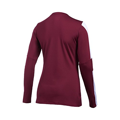 Under Armour Womens UA Block Party Long Sleeve Jersey Maroon/ White/ White