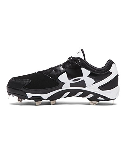 Under Armour Frauen UA Spine Glyde Softball Cleats Schwarz-Weiss