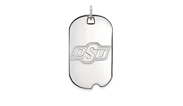 Ohio State University Buckeyes School Logo Dog Tag Pendant Gold Plated Silver 40x24mm