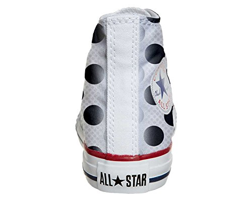Converse Customized Adulte - chaussures coutume (produit artisanal) a Pois