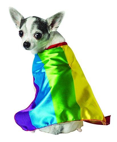 Rasta Imposta Rainbow Flag Cape for Dogs, X-Small