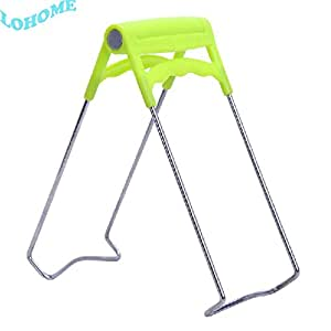 LOHOME Kitchen Stainless Steel Folding Hot Dish Gripper Bowl Clip Plate Retriever Plate Retriever Tongs