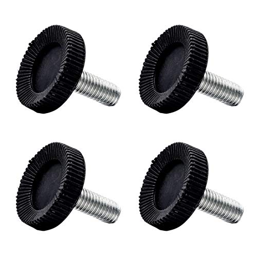 Treely 4Pcs M8 x 19 x 28mm Leveling Feet Screw On Furniture Glide for Furniture Legs