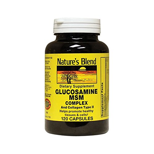 Nature's Blend Glucosamine Msm Complex and Collagen Type Ii 120 Caps
