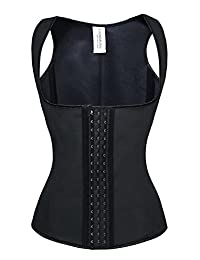 Charmian Women's Spiral Steel Boned Sport Workout Waist Trainer Corset Vest