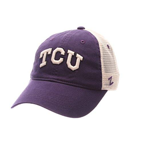 NCAA TCU Horned Frogs Adult Men University Relaxed Cap, Adjustable, Team (Frog Trucker Hat)