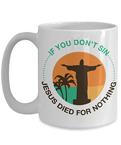 Funny Gifts for Atheists - Jesus Coffee Mug Christmas Present or Gift - I Love Christ Funny Christian Mugs Tea Cup - For Women Mom and Men - Cute Inspirational Encouragement (Bloom Where God Plants)