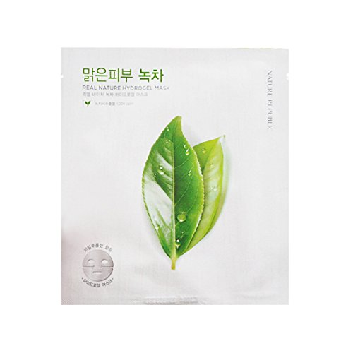 Nature Republic Real Nature Hydrogel Mask, Green Tea, 45 Gra