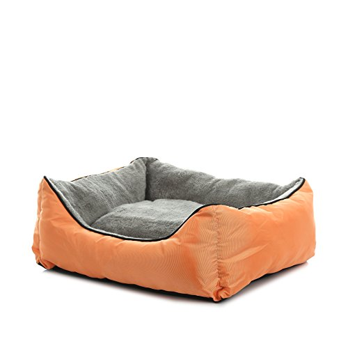 SENYEPETS Orthopedics Kennel pet nest washable dog bed sofa autumn and winter small dog supplies dog bed orange + - Dog Fab Designer