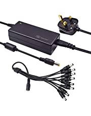 12V 5A 60W Security Camera Power Adapter 100V-240V AC to DC with 8-Way Power Splitter Cable Power Supply for CCTV Security Camera DVR, LED Strip Lights