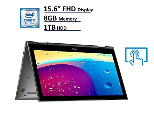 2018 Dell Inspiron 15 5000 5579 2-in-1 Laptop, 15.6in Full HD (1920×1080) IPS Touchscreen, Intel 8th Gen Quad-Core i7-8550U, 8GB DDR4, 1TB HDD, Windows 10 64-bit (Renewed)
