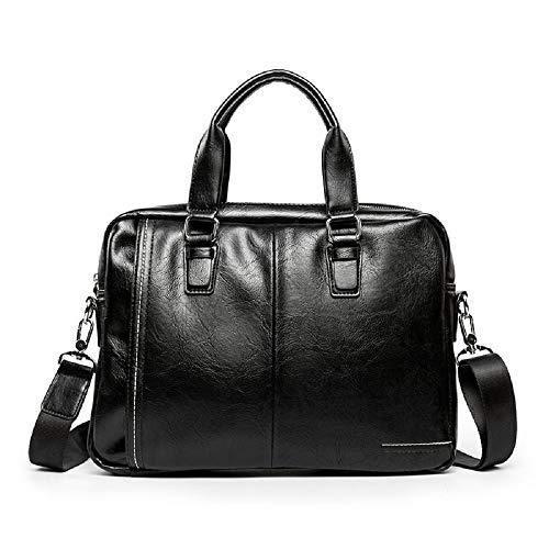 Bolsa sección ZHRUI Negro los Hombro maletín Paquete de de Hombres Mensajero Bolsa Negocio de Bolso Negro de Mensajero Bolsa Bolsa 1 de Viaje de tnqHrBqFf