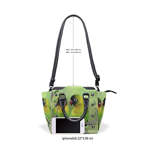 Parrot Tote Handbags Bags Lover Bird Leather Shoulder Animal Women's TIZORAX PwYqvxa