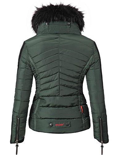 Xs Oscuro Invierno Para Colores Negro Verde Mujer Sintético Navahoo 8 Con Pelo Yuki2 Chaqueta De Capucha xxl H2WD9EIY