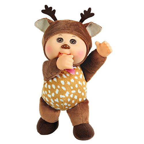 Cabbage Patch Cuties Forest Friends Sage Deer #37, Brown, 9 inches -