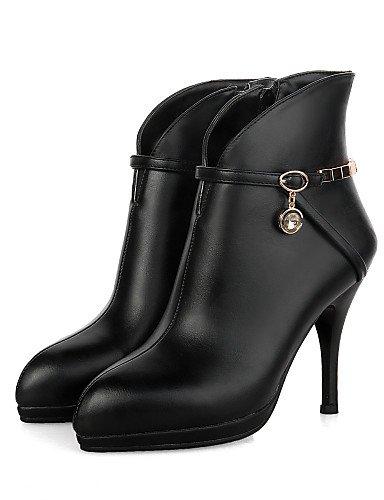 similpelle Tacco da Casual Eu38 a Cn38 punta da scarpe Uk5 5 5 con Nero Scarpe ginnastica donna stivali in us7 Xzz da spillo Rosso Nero F1T0wxn