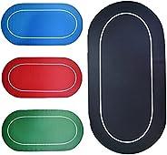 71'' x 36'' Non Slip Rubber Poker Mat,Portable Poker Table Tops Poker Layout,Carrying Case for