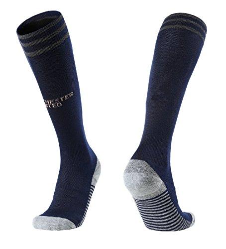 18/19 Season Away MANCHESTER United Soccer Socks For Mens Fan Athletic Gift Black Sports Socks