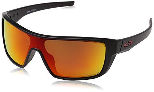Oakley Men's Straightback Polarized Rectangular Sunglasses, MATTE BLACK, 0 mm (Wind Turbine Rotor)