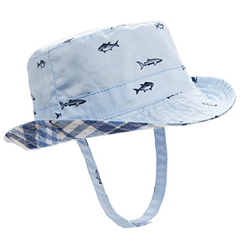 Eriso Baby Toddler Bucket Reversible Sun Protection Animal Hat ((20.5