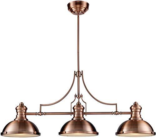 Elk 66145-3 Chadwick 3-Light Billiard Light, 21-Inch, Antique Copper ()