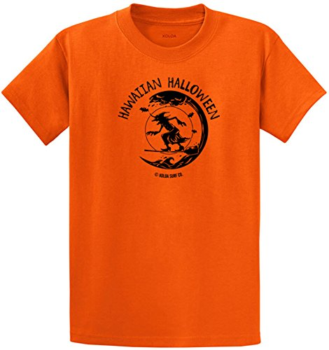 Koloa Surfing Halloween Witch Logo Heavyweight Cotton T-Shirt-Orange/b-M]()