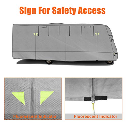 OOFIT Extra-Thick 4-ply Class C Motorhome RV Cover, Fits 29' - 32' RVs, Breathable Weather-Proof, Anti-UV Motorhome Cover with Adhesive Repair Patch, Entrance Zippers & Storage Bag by OOFIT (Image #3)