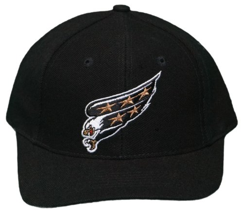 NHL New Washington Capitals Adjustable Snap Back Cap - Embroidered Hat - YOUTH - Black/Green