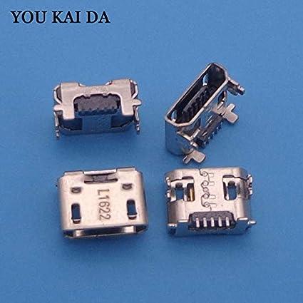 Cable Length: 3pcs Cables 2-100pcs//lot Mini Micro USB Charging Port Connector Socket Power Plug 5pin Female Repair Parts for Listing 2X Verizon Ellipsis 8