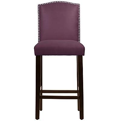 Skyline Furniture Premier Purple Nail Button Arched Bar Stool