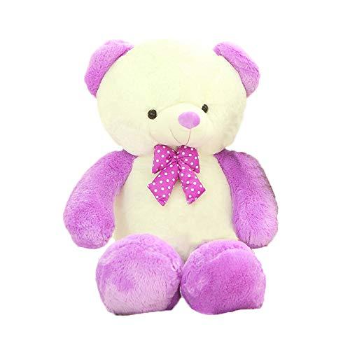 Purple 140cm Plush TOY Valentine's Day, holiday, birthday gift hug bear doll, 60 80 100 120 140 160cm bow tie bear doll large teddy bear Fyxd