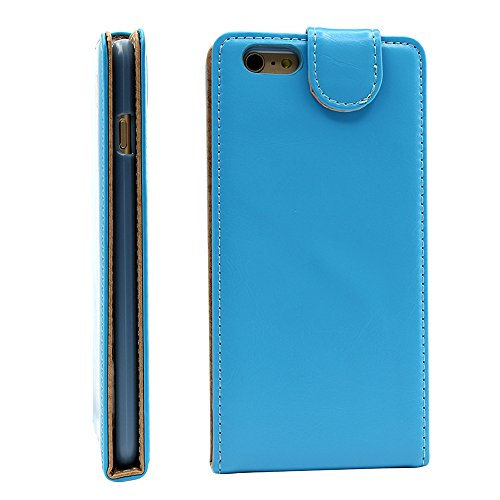 Iphone 6 plus 6s plus (5.5 inch) Ultra-Soft Second Layer PU Mix Light Blue Leather Flip Case Cover with Two Card Slot for Apple Iphone 6 plus 6s plus (5.5 inch) by G4GADGET®