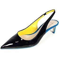 Zara Women Contrast mid-heel shoes 5205/201 (35 EU | 5 US | 2 UK)
